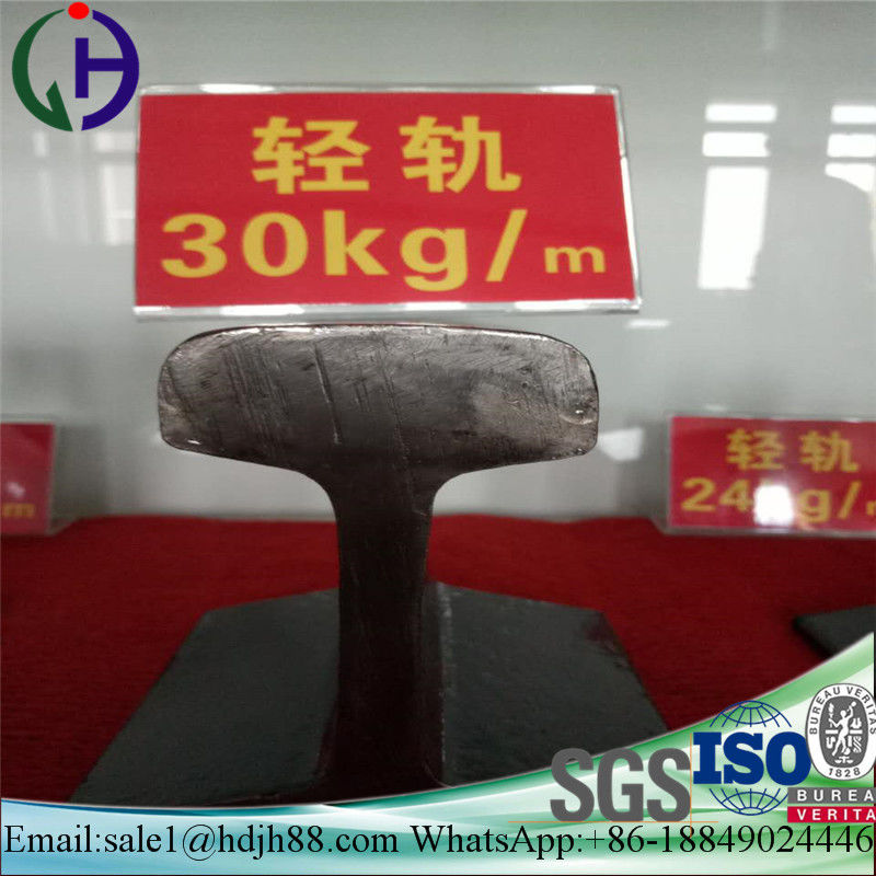 Hot Rolled 30KG/M Railroad Track Steel , ISO SGS Certificated Train Track Rail
